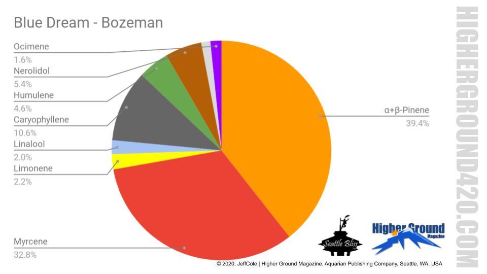 HG420 Terpene Visualization Chart - Blue Dream